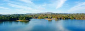 Lake Burley Griffin panorama 300x111 - Panoramic View Of Canberra (australia) In Daytime, Featuring Lake Burley Griffin And Parliament Hous